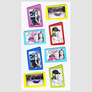 Cadre photo multivues 10x15 blanc 8 photos