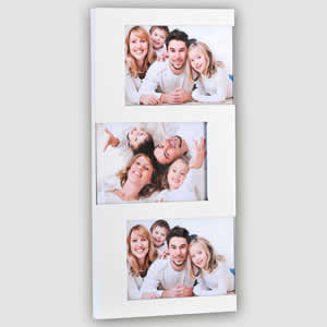 Cadre photo multivues blanc 3 vues 10x15 Emdé