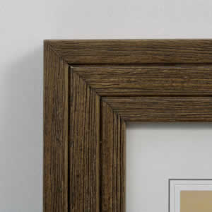 Cadre bois brossé photos 30x40 cm noyer