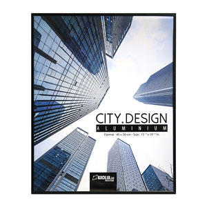 Cadre City Design en Aluminium 40x50 cm Noir