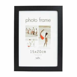 Cadre photo 15x20 relief noir