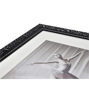 Cadre photo 30x40 bois baroque noir