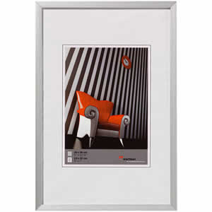 Cadre photo aluminium brossé 15x20 Chair argent