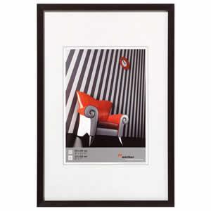 Cadre photo aluminium brossé 30x45 Chair noir