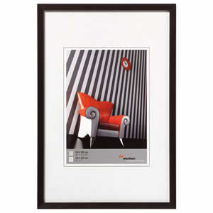 Cadre photo aluminium brossé 40x50 Chair noir