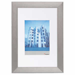 Cadre photo aluminium brossé pour photo 30x40 ALULINE