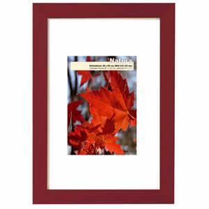 Cadre photo bois rouge Acajou 50x70 cm NATURA