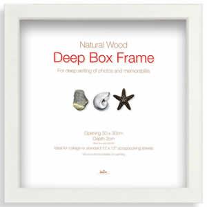 Cadre photo Box Frame 30x30cm blanc large