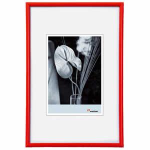 Cadre photo classique 24x30 rouge