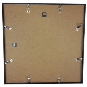 Cadre photo format carré 50x50 noir galerie