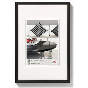 Cadre photo noir en aluminium brossé 30x40 CHAIR