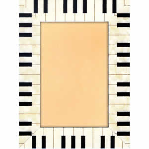 Cadre photo Piano blanc 40x60cm