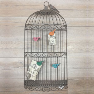 Pêle-Mêle photo cage à oiseaux 40x83cm