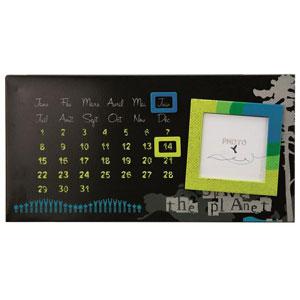 Calendrier perpetuel Biotiful avec cadre photo 9x9cm
