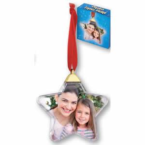 Boule pour sapin de Noël pour photo 5x5cm