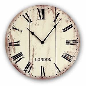 Horloge London aspect vieilli