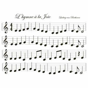 Sticker deco 34,5x49 cm musique Clairefontaine