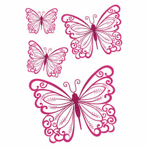 Sticker papillons 25x35 cm Clairefontaine