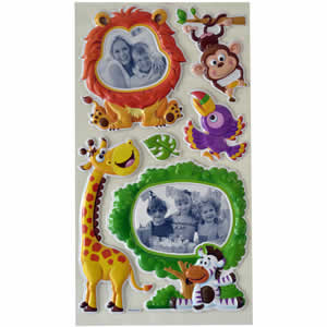 Stickers mural enfant animaux de la savane