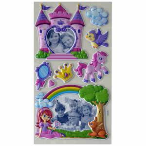 Stickers mural enfant château de princesse