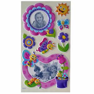 Stickers mural enfant papillons et chenilles