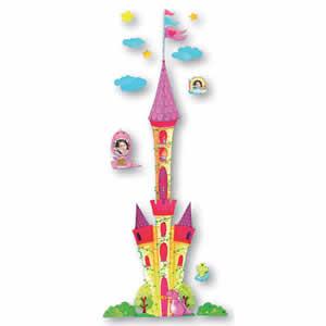 Toise enfant sticker mural château princesses