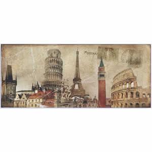 Cadre déco Canvas Art Europe 50x120 cm