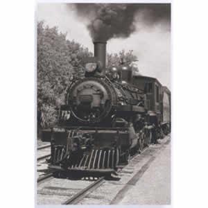 Cadre déco Glass Art Locomotive 40x60 cm
