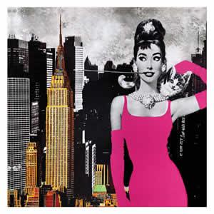 Tableau Audrey Hepburn New York 40x40
