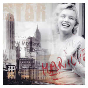 Tableau Marylin Monroe New York 40x40