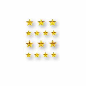 Bijoux décoratifs autocollants étoiles jaunes