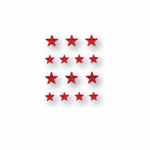 Bijoux décoratifs autocollants étoiles rouges