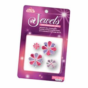 Bijoux décoratifs autocollants fleurs violettes