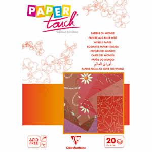 Bloc 20 feuilles A4 camaieu rouge  papier du monde