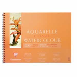 Papier aquarelle Clairefontaine 13x18 12 feuilles