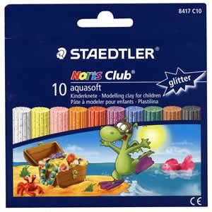 Pâte à modeler pour enfant Aquasoft 10 couleurs