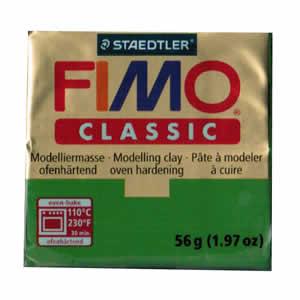 Pâte FIMO classic Couleur Vert Feuilles N°57