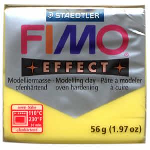 Pâte FIMO Effect jaune translucide N°104