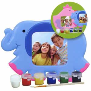 Cadre photo enfants à peindre 7x7cm éléphant