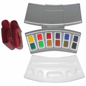 Coffret de peintures 12 couleurs aquarelles