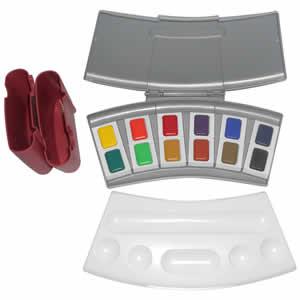 Coffret de peintures 24 couleurs aquarelles