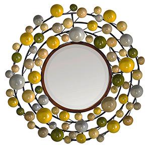 Miroir rond multicolors Emdé