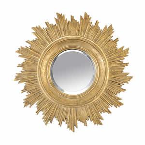 Miroir Soleil doré Emdé