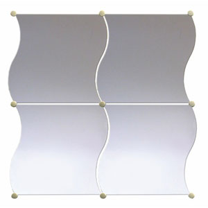 Miroir Tuiles Wavy