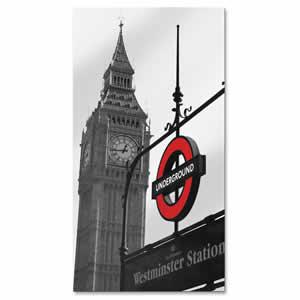 Miroir aux couleurs de Londres 40x75cm