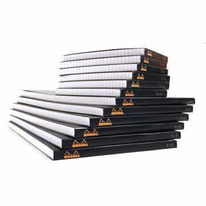 Bloc Rhodia black  85x120 agrafé en-tête 5x5