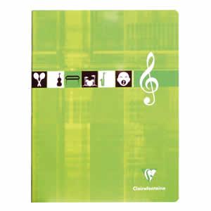 Cahier musique Clairefontaine 17x22 séyès 56 pages