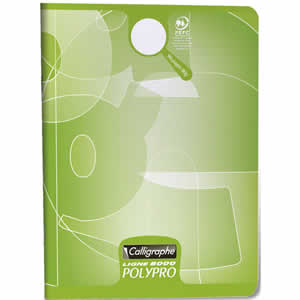 Cahier scolaire 17x22 vert calligraphe 96 pages