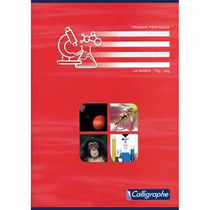 Cahiers TP  Calligraphe A4 séyès 48 pages rouge